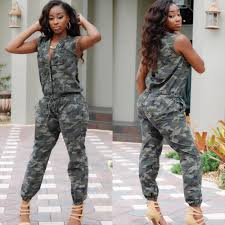 camouflage jumpsuit womens 2018 wholesale camouflage jumpsuit overalls sleeve