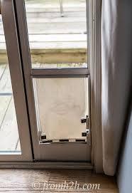 Interior Pet Door For Cats How To Keep The Cat From Using The Dog Door Diy Dog Door Hack