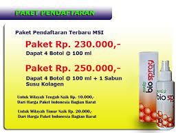 Ecer Collagen Spray Msi master stockist msi bio spray gold jakarta marketing plan bisnis