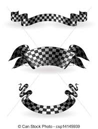 checkered ribbon checkered ribbons set 10eps vectors search clip illustration