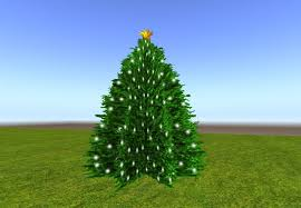 second marketplace 2 prim twinkling tree w white