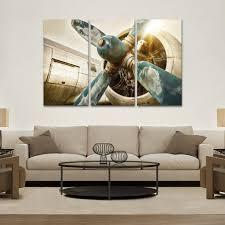 vintage airplane multi panel canvas wall art elephantstock