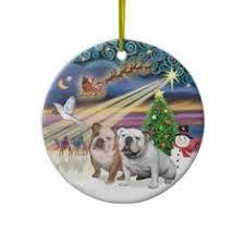 bulldog white ornament bulldog