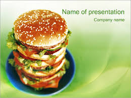 Fast Food Powerpoint Template Backgrounds Id 0000000048 Fast Food Ppt