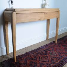 Small Oak Writing Desk by Inadam Furniture Small Console Table Retro Living Oak Inadam
