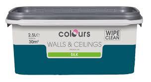 Colours Village Green Silk Emulsion Paint 5l Departments Diy Teal