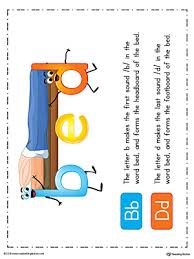 B And D Worksheets B D Letter Reversal Teaching Poster The Word Bed In Color