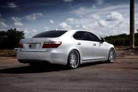 lexus rear bumper luxurious lexus ls460l boasting vossen rims with polished lips