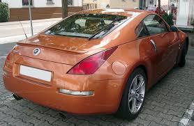 orange nissan 350z file nissan 350z rear 20070914 jpg wikimedia commons