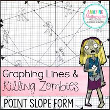 graphing lines u0026 zombies point slope form by amazing mathematics