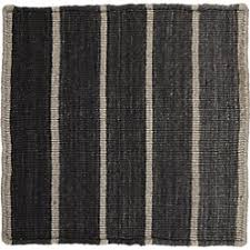 Dhurrie Runner Rugs Bold Graphite Wool Blend Striped Dhurrie Rug Crate And Barrel