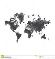 pen art sketch drawing world map illustration stock vector