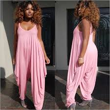 pink jumpsuit womens plus size rompers womens jumpsuit sleeveless spaghetti