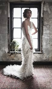 feather wedding dress are fabulous feathers the best wedding dress trend for 2014