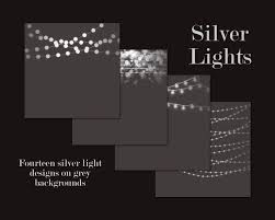 String Of Fairy Lights by Silver Light Overlays Silver Light Borders Silver Light Clipart
