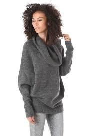 cowl sweater oversized grey cowl neck sweater velvet bungalow boutique