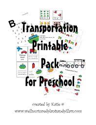 free transportation themed printable pack for preschool u2013 plants