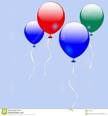 Four shiny balloons stock vector Illustration of green  2152211
