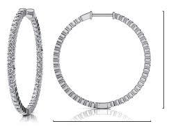 inside out diamond hoop earrings inside out prong set diamond hoop earring x large roco s jewelry