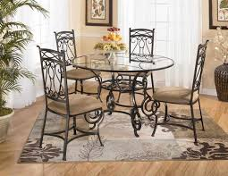 Glass Top Dining Room Sets by Round Glass Dining Table And Chairs New Dining Room Table Sets For