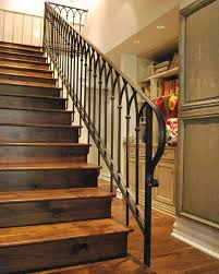Wooden Banisters And Handrails 33 Wrought Iron Railing Ideas For Indoors And Outdoors Digsdigs