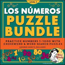 los numeros spanish numbers puzzle bundle 1 1000 crossword