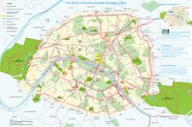 Lan Route Map by Map Of Paris Bike Paths Bike Routes Bike Stations