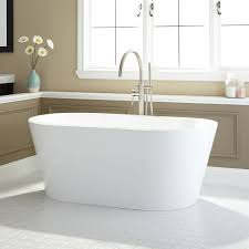 leith acrylic freestanding tub bathroom