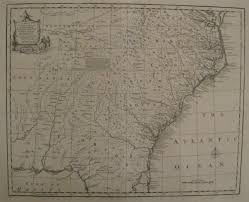 Detailed Map Of Virginia by Antique Maps Of Regions Of 18th Century North America