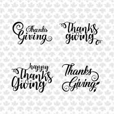 happy thanksgiving day lettering text handmade vector