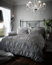 Luxury Bed Linen Sets Fully Elastic Duvet Set Silver