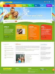 joomla education templates land children education center joomla template on behance
