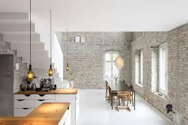 cuisine avec mur en salle a manger cuisine avec mur en briques