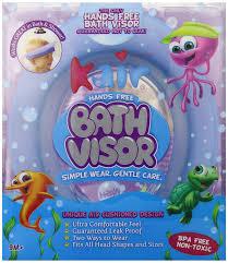 amazon com kair air cushioned bath visor blue bath hair visor