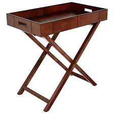 butler table with tray butler tray table leather butlers tray nut brown install butler tray