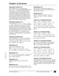 ch 11 answers