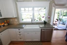 Light Cherry Kitchen Cabinets Kitchen Charming U Shape Caesar Stone Kitchen Design Ideas With