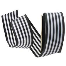 black and white ribbon black white striped wired edge ribbon 1 1 2 hobby lobby 95165