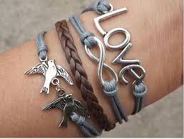love braided bracelet images Birds infinity love bracelet bracelets hipsters jewelry bracelet jpg