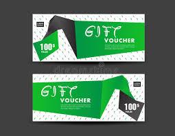 green gift voucher vector illustration green gift voucher vector illustration discount template stock