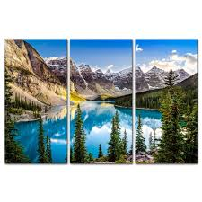 aliexpress com buy 3 pieces modern wall art for home decor aliexpress com buy 3 pieces modern wall art for home decor morain lake and mountain range alberta canada landscape mountain lake giclee artwork from