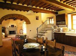 kitchen design enchanting orange wall color rustic tuscan style