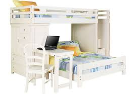 rooms to go white table creekside white wash twin full step bunk bed w desk chest bunk