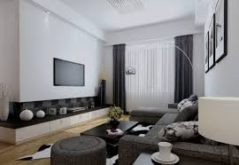 define livingroom simple and catchy wall mounted tv idea for living room design home
