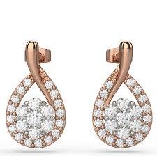 drop diamond earrings tear drop diamond earrings in gold australian diamond network
