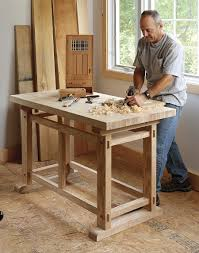 small furniture a small sturdy workbench this workbench design by eric tan who