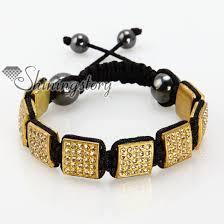 macrame bracelet with beads images Square beads rhinestone macrame bracelets wholesale jpg