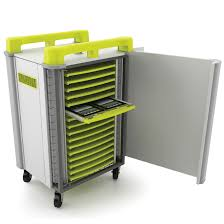 Charging Shelf Tabcabby 32h Horizontal Portable Tablet Storage Charging Trolley