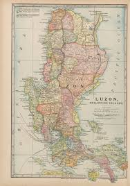 Luzon Map Maps From The Monarch Standard Atlas Perry Castañeda Map