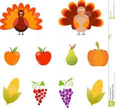 thanksgiving illustrations turkey grape corn apple